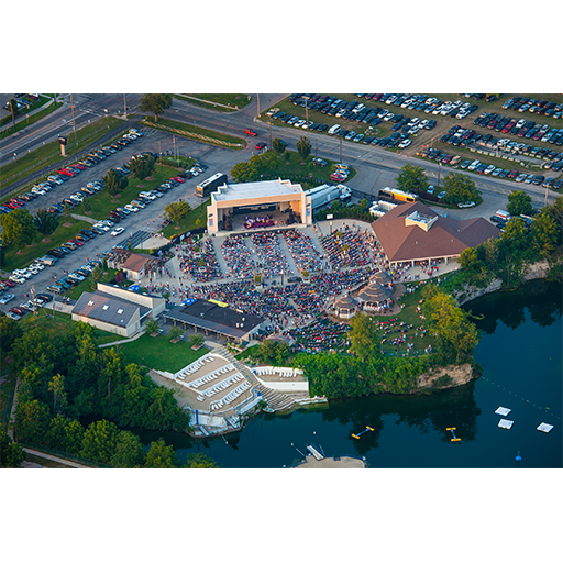 aerial view of a concert